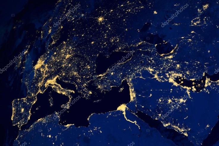 European Cities at Night